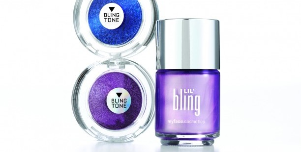 Myface cosmetics 'Blingtone' eyeshadow and matching 'Lil bling' nail chrome