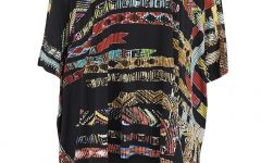 £105 aztec print top