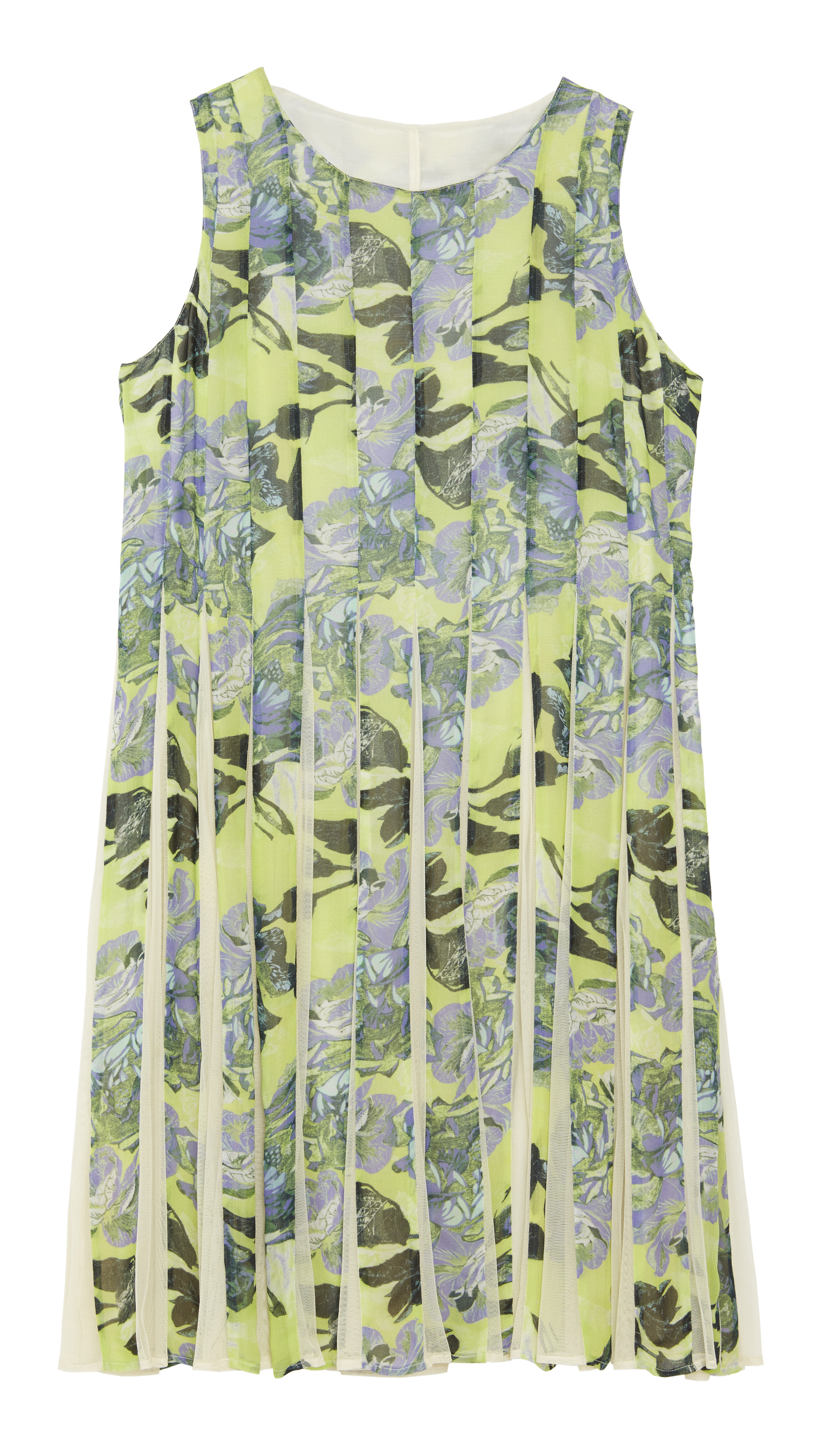 ASOS CURVE SALON Fit & Flare Dress With Inserts In Print 75