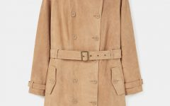 Camel Suede Trench Coat by Violeta by Mango £169.99