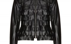 Papago @ Navabi FRINGED LEATHER JACKET £219.99