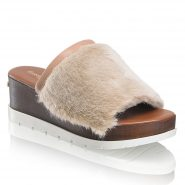 Russell & Bromley, Tiddly Pom Faux Fur Mule, £135
