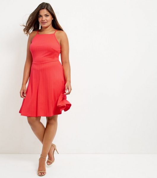 New Look Curve, Red Dress, NEW LOOK