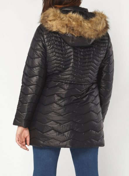 curvy padded puffa coat