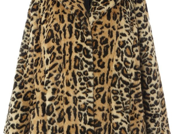 plus size coat leopard print faux fur