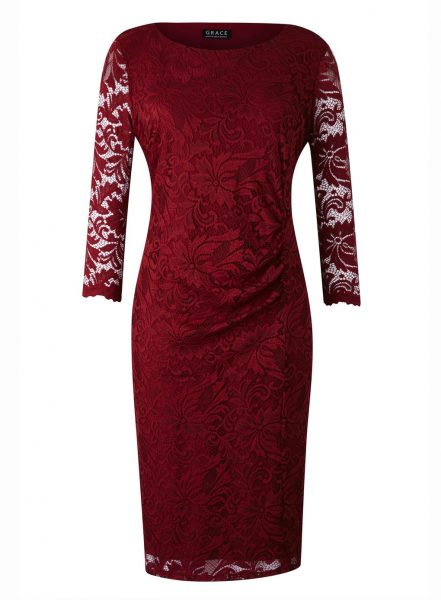 Evans plus size red dresses