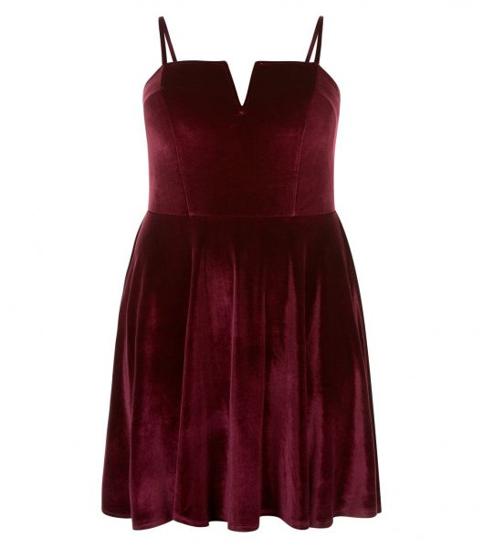 curves-burgundy-velvet-skater-dress