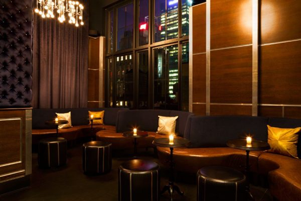 The rooftop bar, the spyglass, new york, the archer hotel