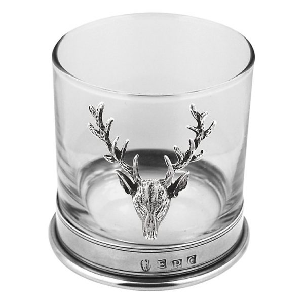 whiskey tumbler stag head