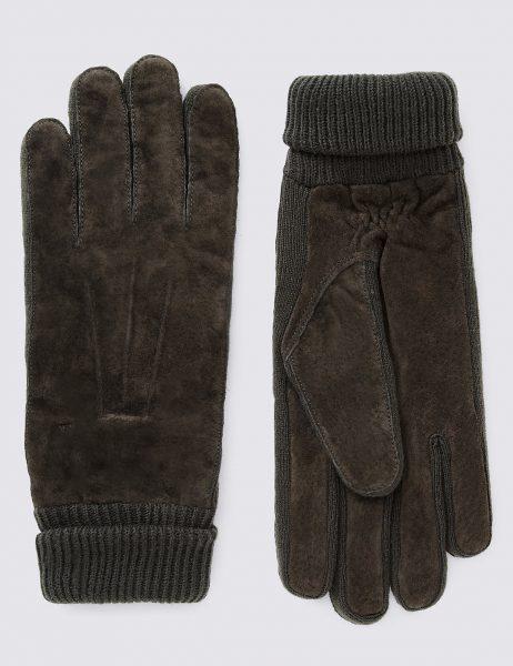 mens warm suede gloves marks and spencer