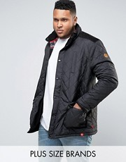 barbour inspired plus size mens jacket asos