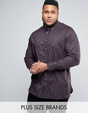 floral plus size shirt for men asos