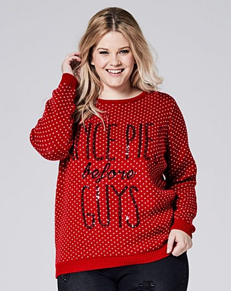 simply be plus size christmas jumper