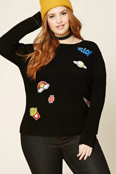 plus size patch jumper forever 21
