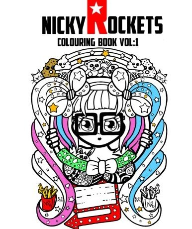 adult colouring books nicky rockets