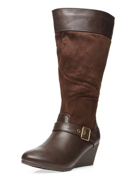 evans wide fit long boot