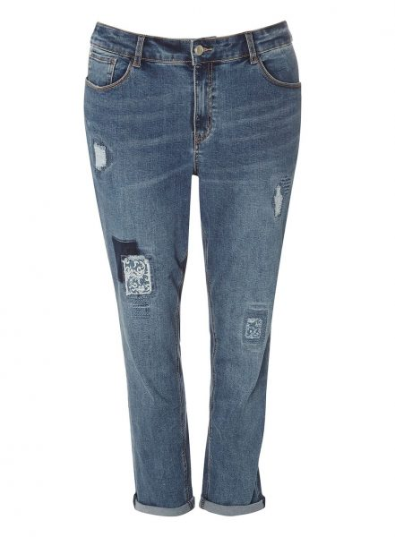 plus size denim jeans boyfriend evans
