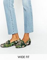 asos jacquard wide fit shoes