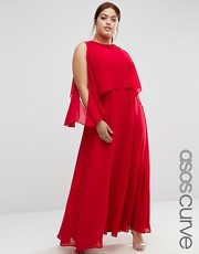 plus size red dress maxi