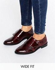 asos wide fit leather shoes