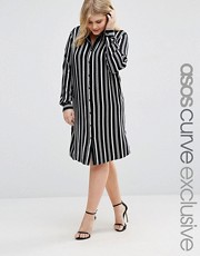 plus size shirt dress stripe asos curve