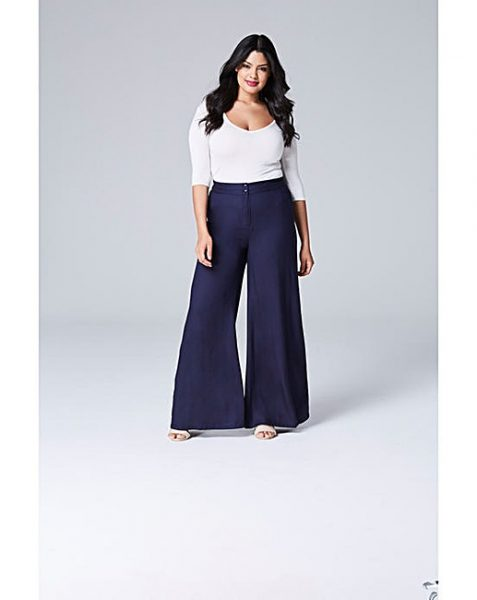 simply be plus size wide leg trouser
