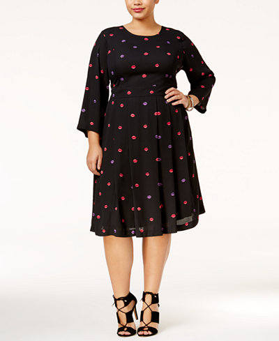 melissa mccarthy plus size dress plus size black dress