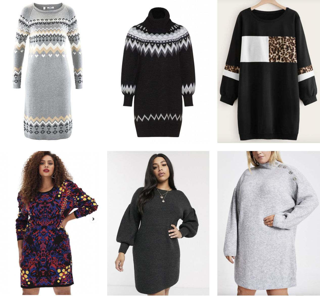 Top 6 Plus Size Jumper Dresses – SLiNK Magazine